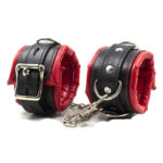 sponge-leather-hand-wrist-font-b-cuffs-b-font-bondage-restraints-slave-belt-can-lock-in